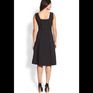 New! Lafayette 148 black Adelaide dress 6